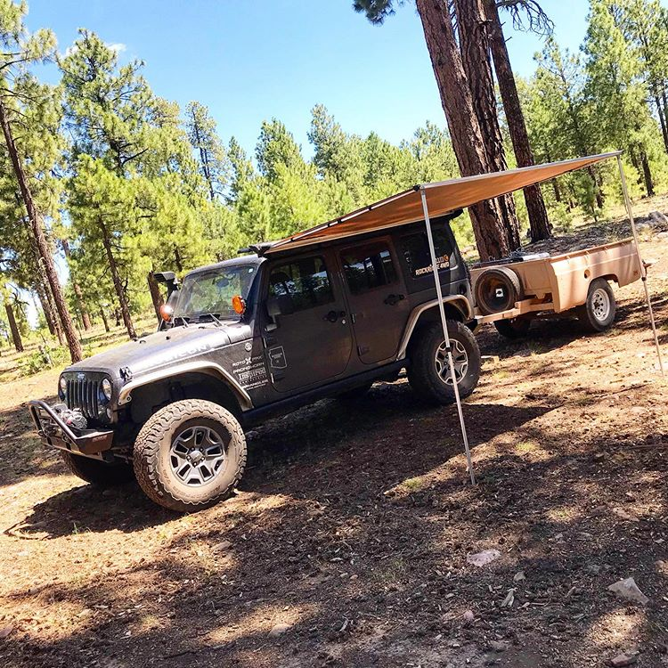 Smitty Built Awning for Overland Adventures