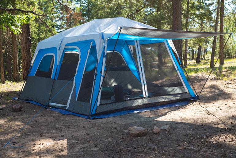 Tent Camping near water at Black Canyon Lake