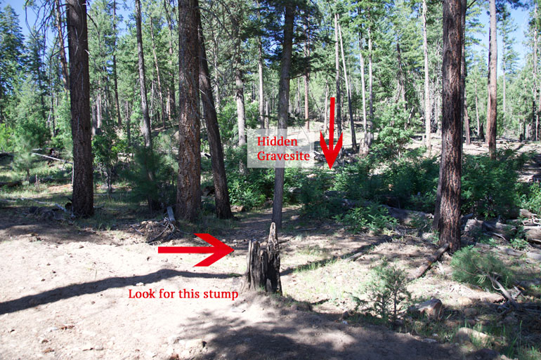 Hangman Trail Gravesites directions