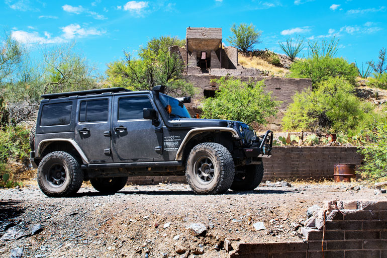 Jeep by the Abandoned Ajax Mine