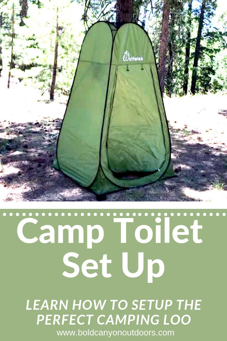 Private Camping Toilet Setup