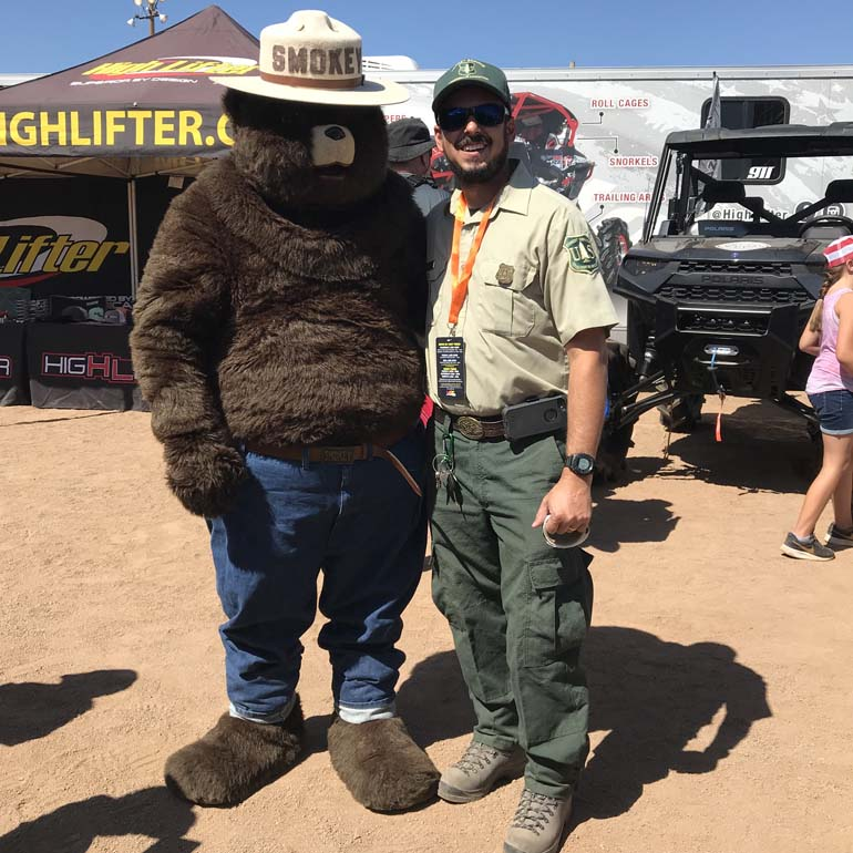 Smokey The Bear at the Off-Road & Camping Expo