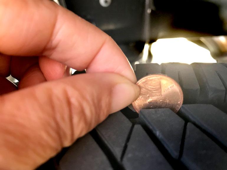 Tire Tread Penny Depth