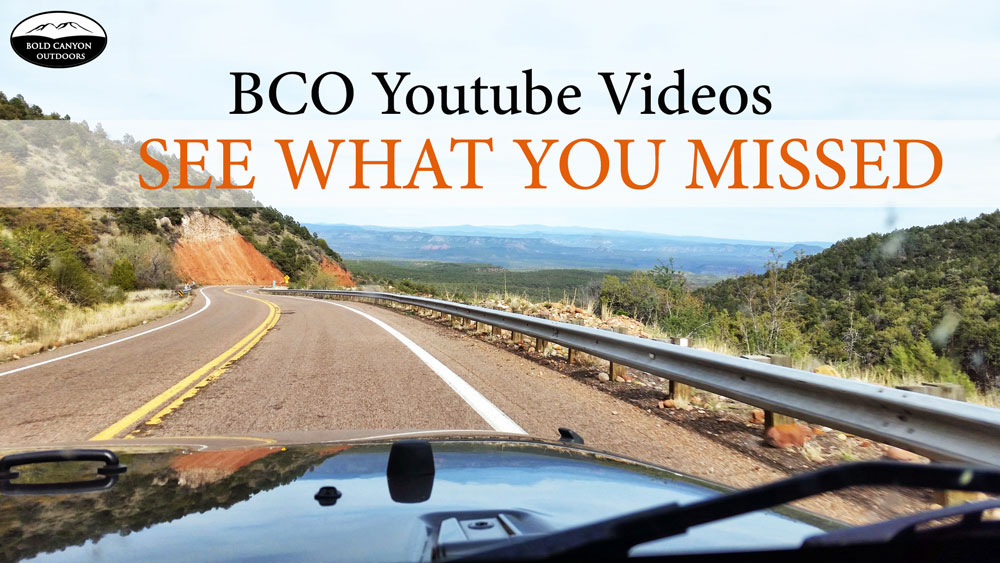 Bold Canyon Outdoors Youtube Videos