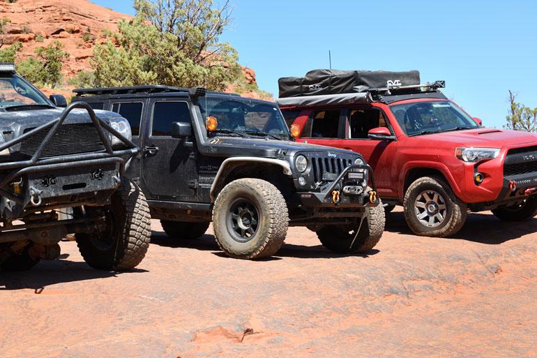 Broken Arrow Trail, Sedona AZ . Rigs gather for an Off-Road Selfie.