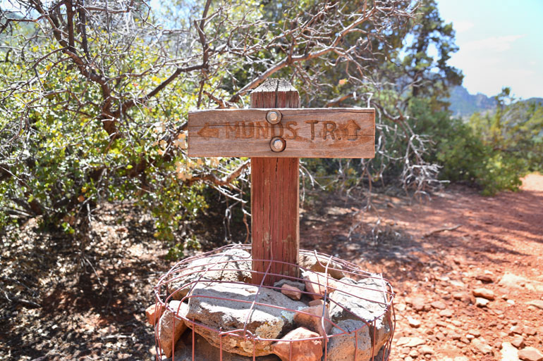 """The top of the Munds Trail at the """"Merry Go Round"""""""