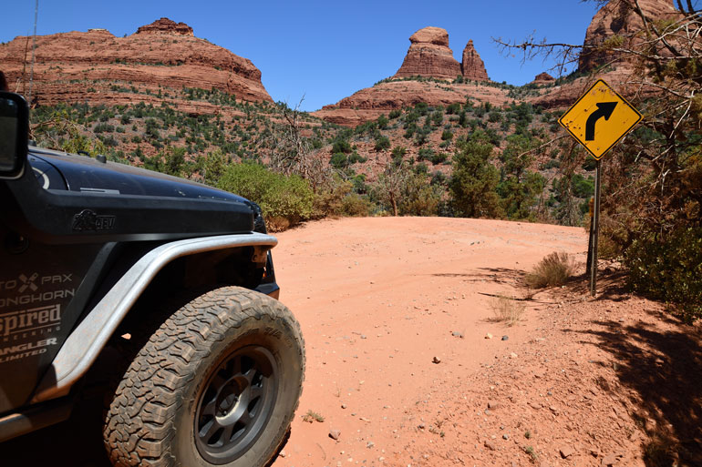Our Jeep heading up the trail.