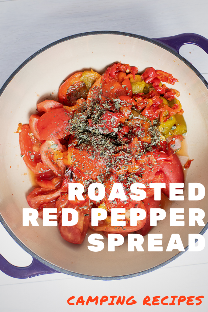 Pinterest Image for Roasted Red Pepper Spread
