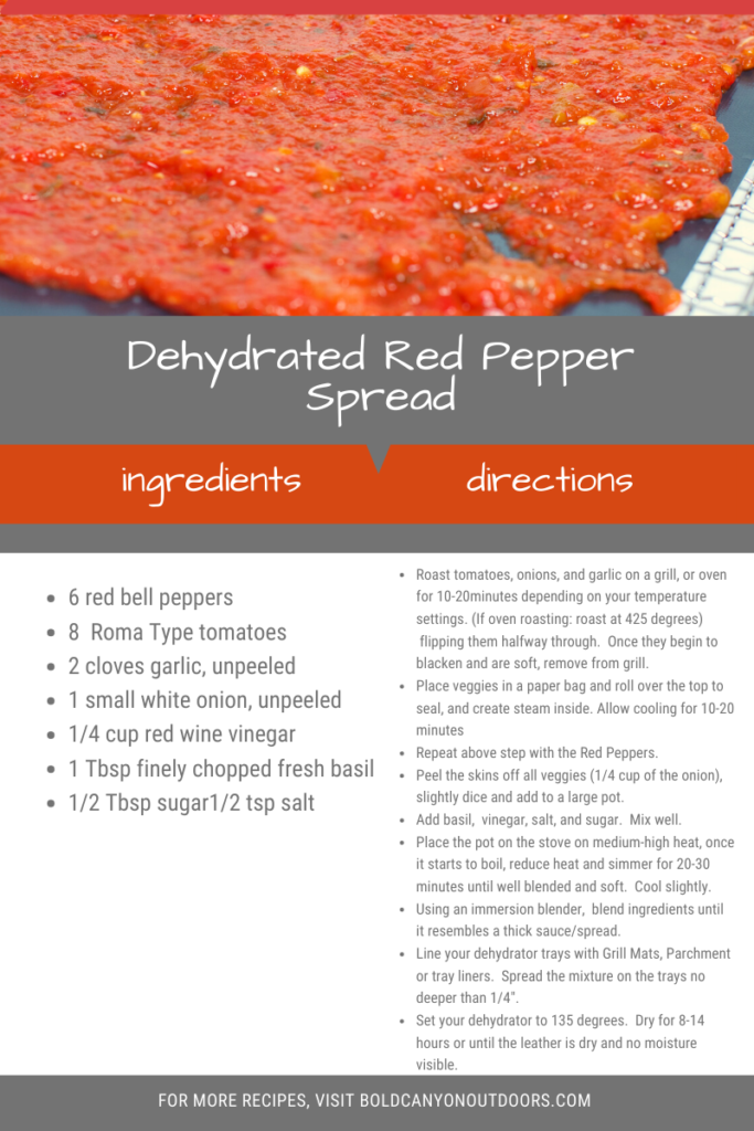 Dehydrated Red Pepper Spread Printable Recipe