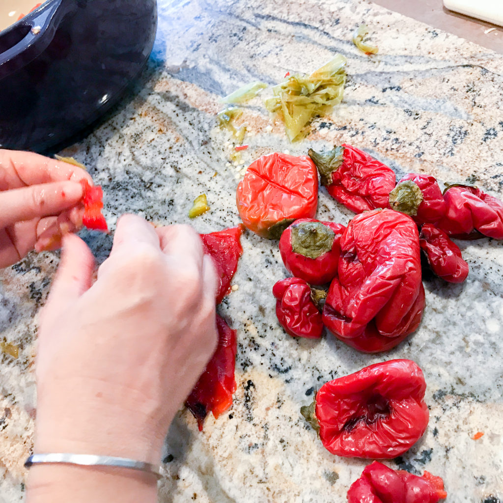 Skinning Peppers for recipe