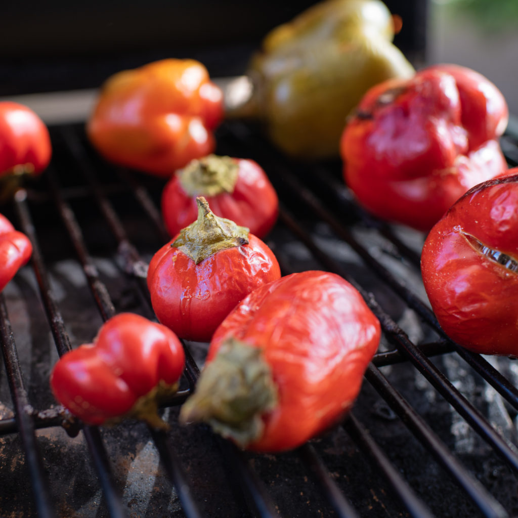 Roasting Peppers on the Grill
