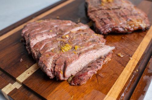 Orange Marinated Grilled Flank Steak