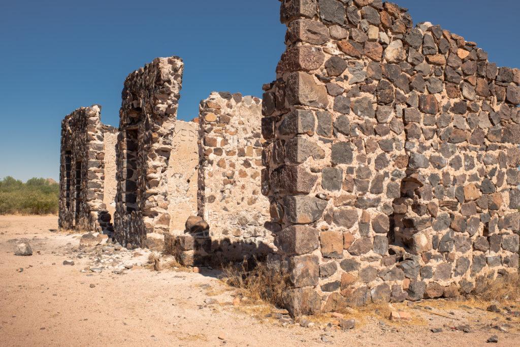 Remains of the Hotel Rockland near Sasco Arizona