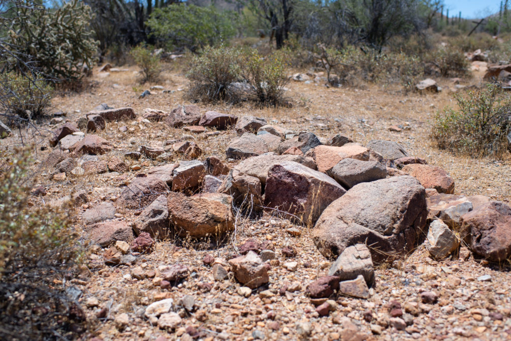Unmarked Grave at the Silver Bell Cemetery.