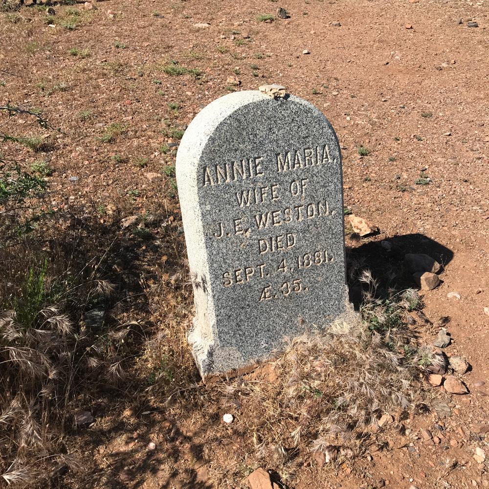 Historic Pinal Cemetery Gravestone