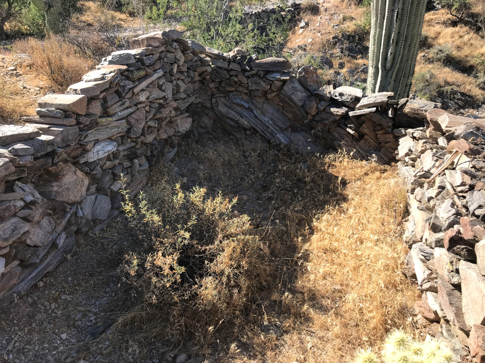 Stone Structure Just North of Kilns Reymert DeNoon Arizona ghost town